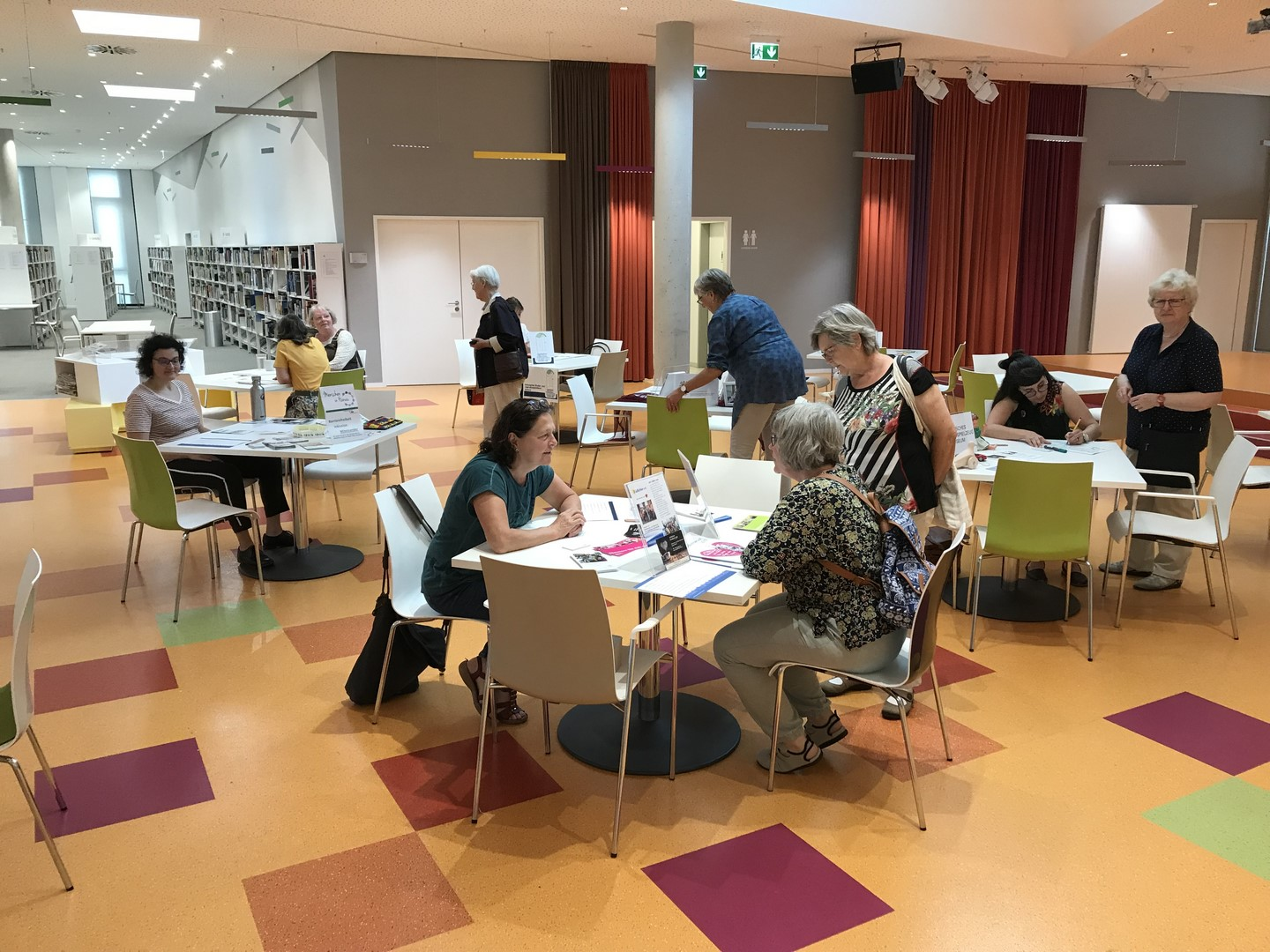 Speed-Dating im Kulturforum Hanau. Cettina hat