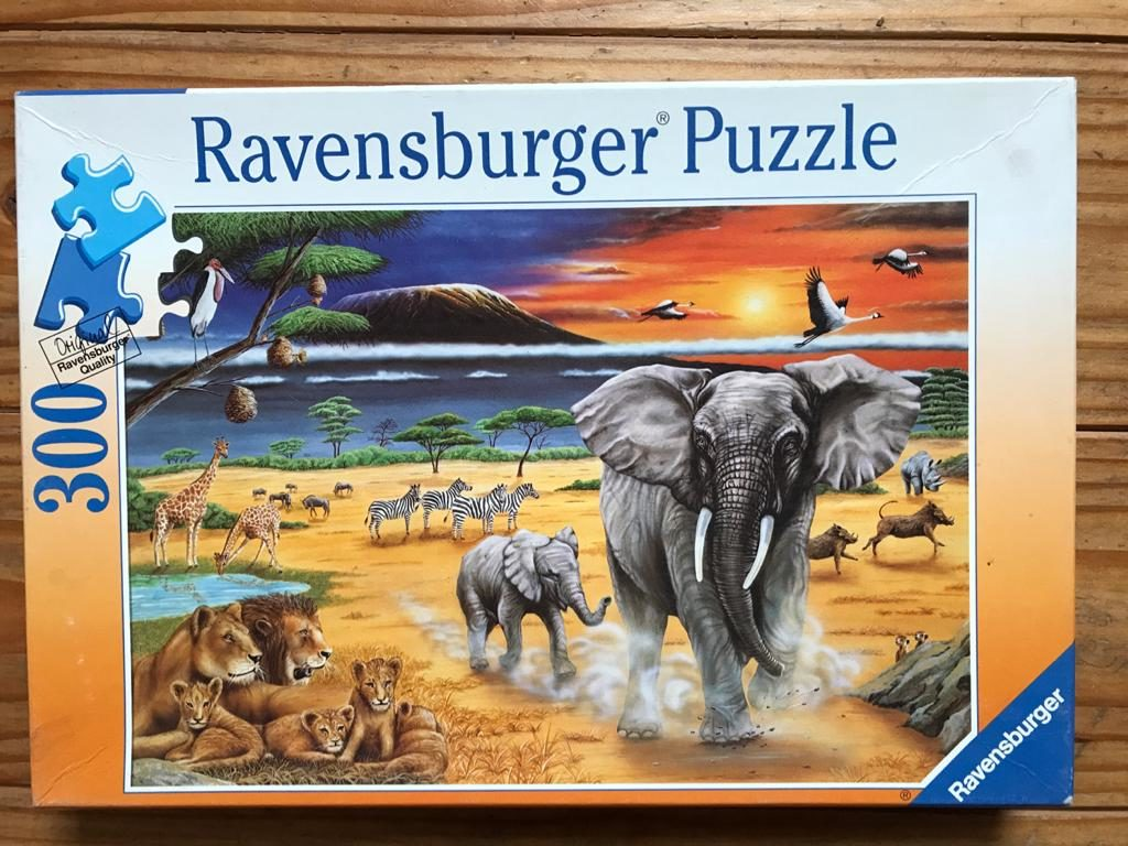Puzzle 30 Teile - Tiere in Afrika